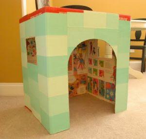 как сделать домик из коробки9