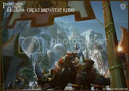 Postcards from Azeroth: Great Brewfest Kodo, by Rioriel Whitefeather