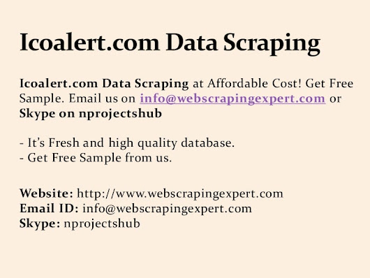 Icoalert.com Data Scraping