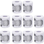10 pcs toilet paper roll novelty funny gag gift dump with trump