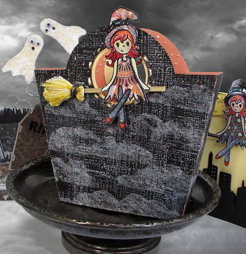 LPSC34 {Jena Witch} Night -Sky treat bag (melstampz)