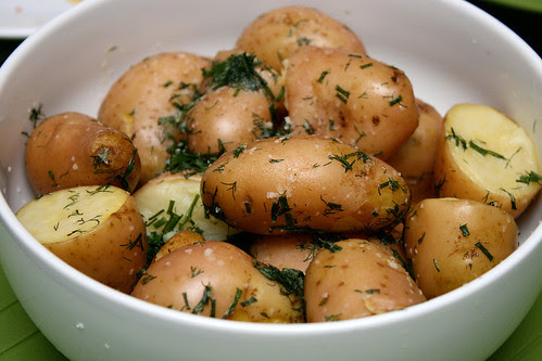 Potatoes in herbed butter