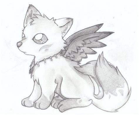 drawings   cute wolf wolf demon akira