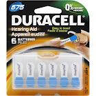 Duracell 675 Zinc Carbon Hearing Aid Batteries - 6 count