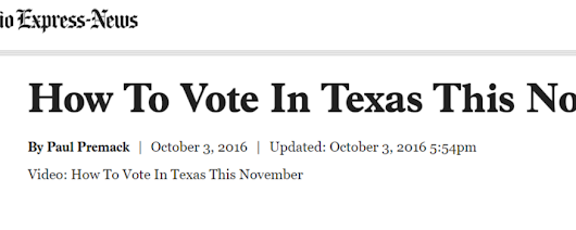 How To Vote In Texas This November
