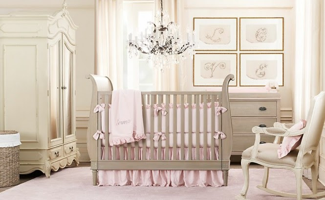 Make sophisticated artwork out of your child's name or initials, and don't forget to illuminate your gallery in the same way that you would in the rest of your home with strategically placed picture lights that will give out a warm and gentle glow when used instead of the large overhead light, perfect for those late night feeds.