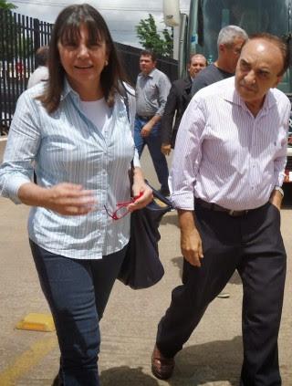 Governadora Roseana Sarney ao lado do seu ex-aliado Sebastião Madeira