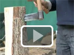 Making oak and cedar shingles