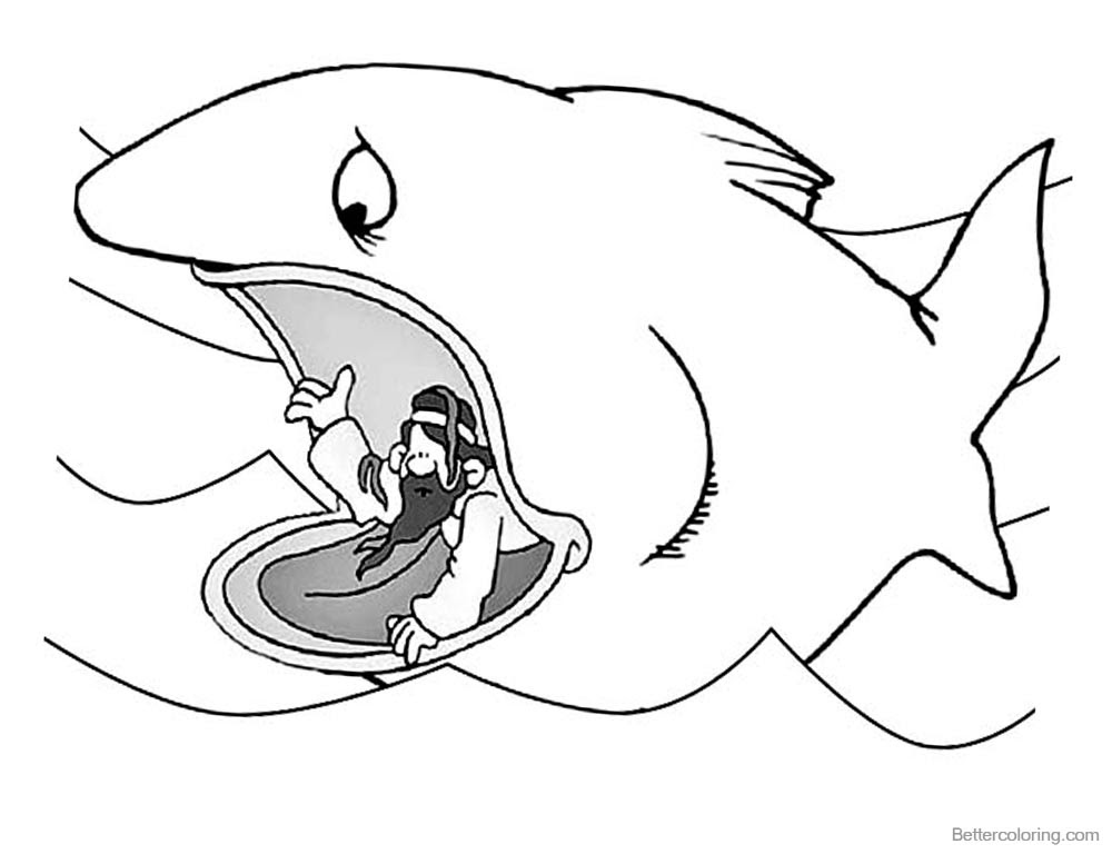 Jonah And The Whale Coloring Pages Jonah Ask for ...