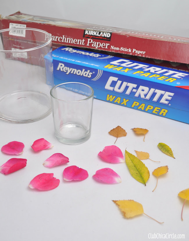 Wax Paper Nature Votive Craft supplies @clubchicacircle
