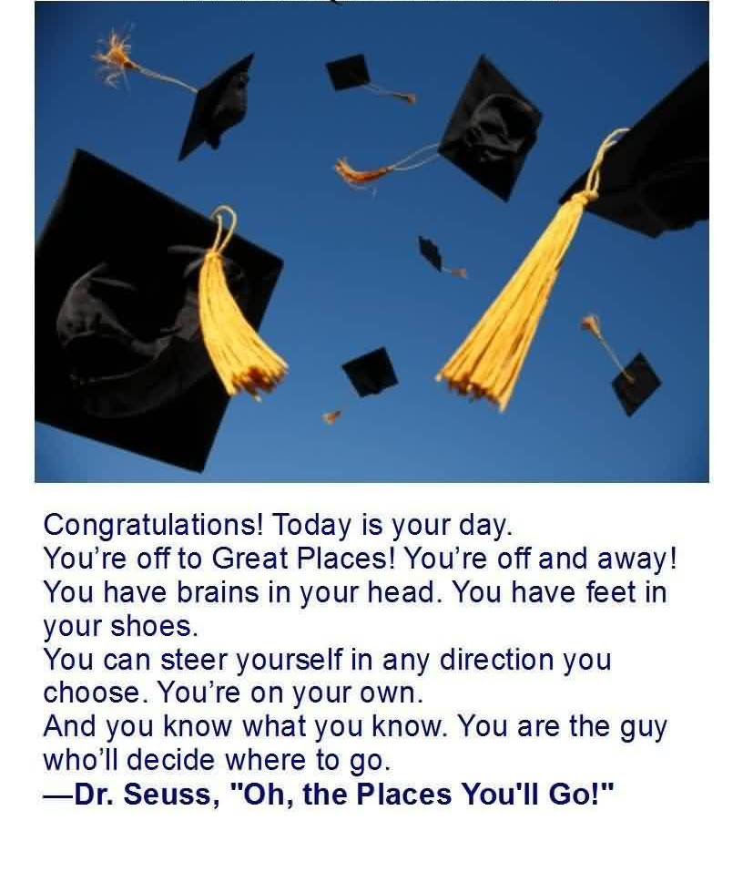 Good Graduation Quotes By Dr Seuss Congratulations Today Is Your
