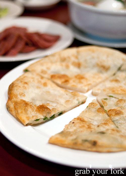 shallot pancakes at poplar central asian cuisine crows nest