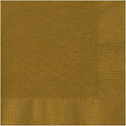 """Creative Converting Beverage Napkins, Glittering Gold, 5 """"x 5"""" - 50 count"""