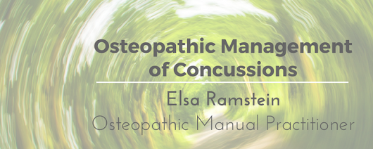 Osteopathic Management of Concussions by Elsa Ramstein • Life Therapies - Health and Wellness Centre Ottawa