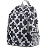 "Zodaca 16"" Outdoor Camping Hiking Large Travel Sport Backpack Shoulder School Bag for Girls Boys Teen Adults - Quatrefoil Black (Size: 16.5"" L x 5.5"""