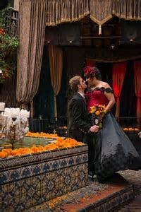 Goth Club Dia de Los Muertos Wedding: Lauren & Ralf · Rock