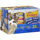 Friskies Prime Filets Seafood Favorites Cat Food, Variety Pack - 24 count, 5.5 oz cans