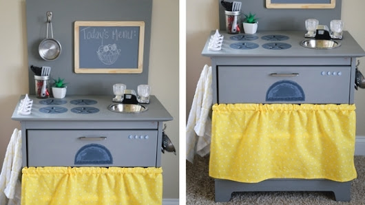 From Nightstand to DIY Toy Kitchen (TUTORIAL) - Simply September