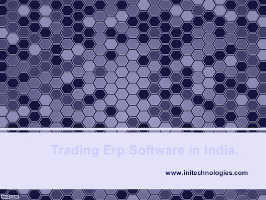 Trading erp software in india