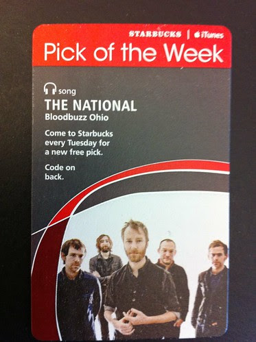 Starbucks iTunes Pick of the Week - The National - Bloodbuzz Ohio