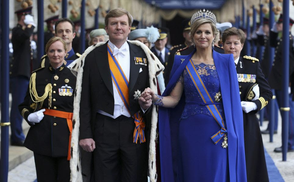 Eventful: The investiture ceremony was the final formal act on a day of high emotion within the House of Orange-Nassau and was to be followed by an evening boat tour around the historic Amsterdam waterfront