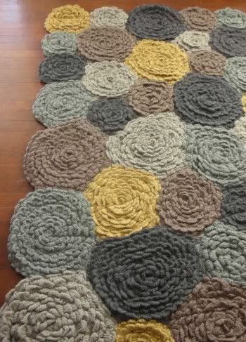 Crocheted VivaTerra Meadowflower Rug