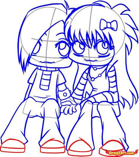 cartoon love couple  draw   clip art