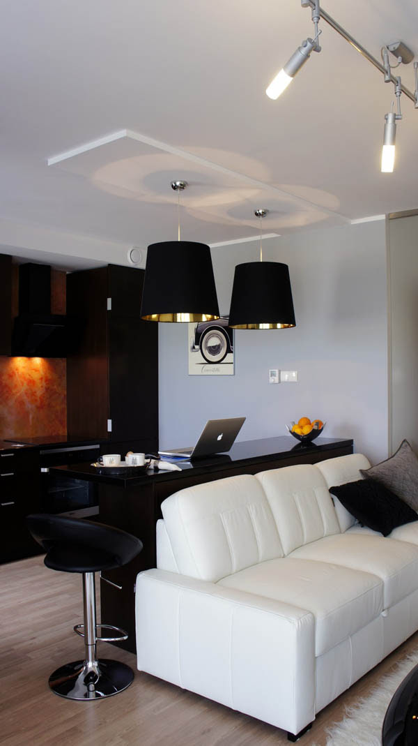A compact 34 square meter apartment with an elegant interior design