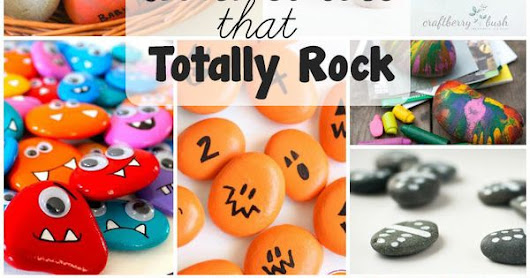 Rock Crafts for Kids that Rock