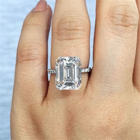 17 Best images about Emerald Cut Diamond Engagement Rings