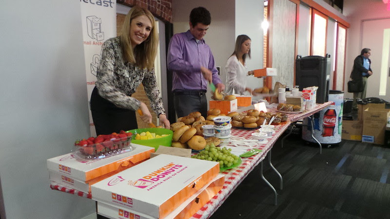 Dunkin Donuts at Social Media Breakfast #SMB32