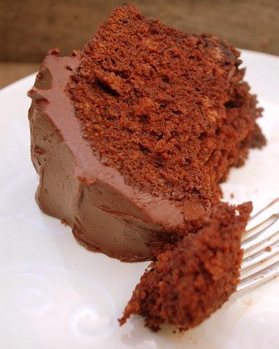 Root Beer Float Cake slice