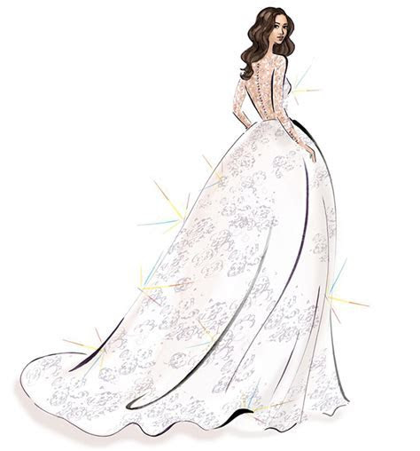 See Meghan Markle wedding dress sketches