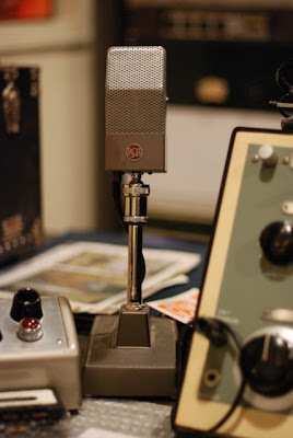 RCA Microphone in the Norman Petty Recording Studios, Clovis, New Mexico