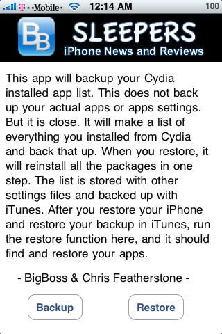apt backup do iPhone 5