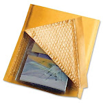 """Sealed Air Jiffylite Bulk-packed Cushioned Mailer - Padded - #0 [6"""" - Self-sealing - Satin, Kraft - 200/carton - Gold (55445)"""