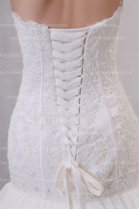 Very Cheap Wedding Dresses For Sale Strapless Appliques