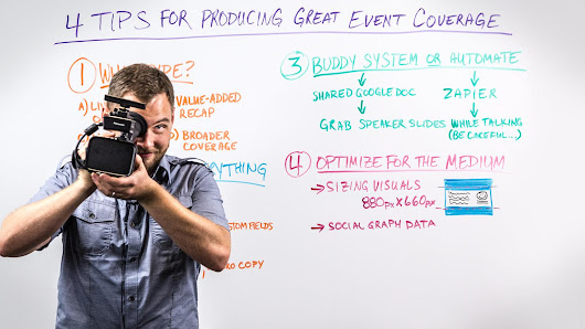 4 Tips for Producing Great Event Coverage - Whiteboard Friday