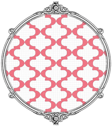 10 poinsettia Sketch Moroccan tile - free printable paper SAMPLE