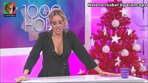 Helena Isabel sensual no programa 1000 à hora