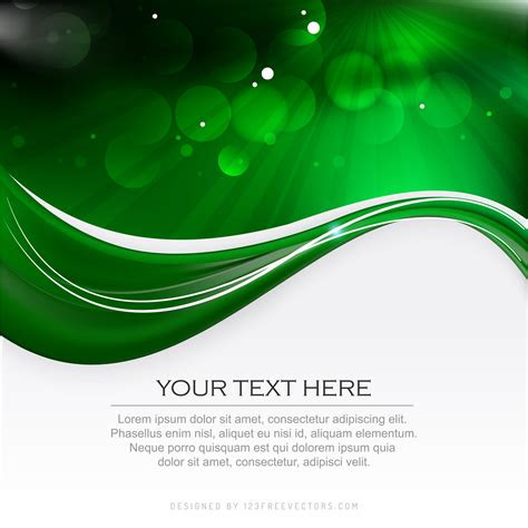 abstract dark black green background template