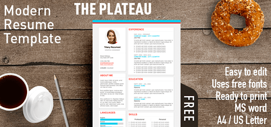 The Plateau - Modern Resume Template