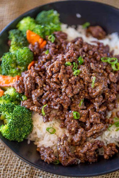 ground mongolian beef dinner  dessert