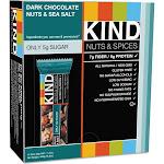 Kind Dark Chocolate Nuts & Sea Salt Bars - 12 pack, 1.4 oz each