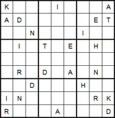 Mystery Godoku Puzzle for December 29, 2014
