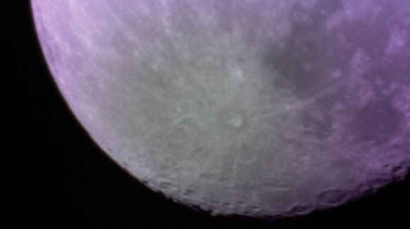 A shot of the moon taken by a telescope created by 3-D printing. Credit: University of Sheffield
