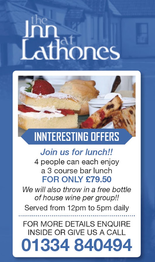 Great Value Lunch Offer Fife | Quality Fresh Local Produce St Andrews Fif