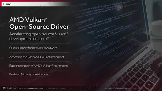 Happy Holidays: AMD Finally Pushing Out Open-Source Vulkan Driver - Phoronix