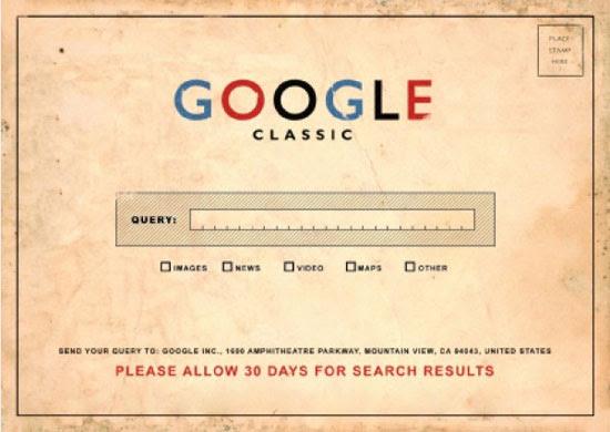 """""""Google Classic"""", que apela para a estética do gigante de buscas como se ele fosse usado durante os anos 1950"""