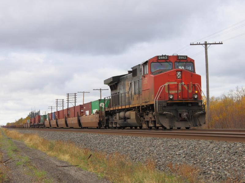 CN 2662 on train 101 in Winnipeg, Manitoba